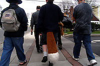 Furries including Ren Fox (center) walk to breakfast in Ocean City, New Jersey.   Furries are a group of people who identify themselves not as being human but as a walking, talking animal.  For some the lifestyle is complete, animal traits reach into every aspect of life from mundane trips to a grocery store to sexual fantasies.  For others, involvement in the furry fandom is limited to public performances and meet-and-greets.