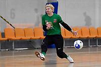 Hamish Mitchell of Canterbury during the Men's Futsal SuperLeague, Canterbury United Futsal Dragons v Capital Futsal at ASB Sports Centre, Wellington on Saturday 31 October 2020.<br /> Copyright photo: Masanori Udagawa /  www.photosp ort.nz