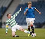 Celtic's Regan Hendry tackles Ross McCrorie