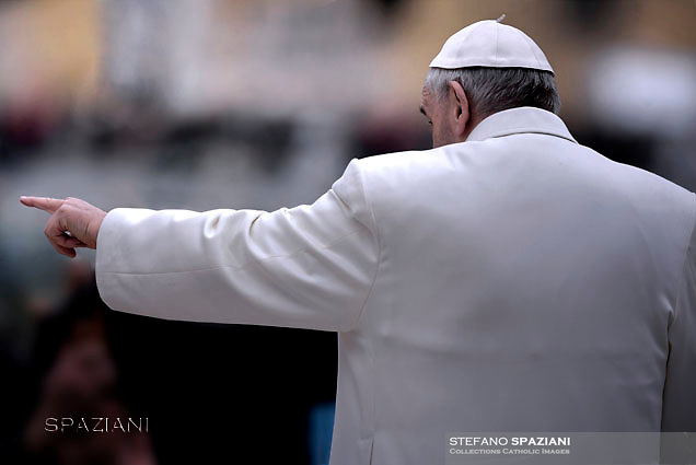Pope Francis  during his weekly general audience in St. Peter square at the Vatican, Wednesday.February. 10, 2016.