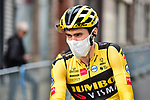 Tom Dumoulin (NED) Team Jumbo-Visma at sign on before La Fleche Wallonne 2020, running 202km from Herve to Mur de Huy, Belgium. 30th September 2020.<br /> Picture: ASO/Gautier Demouveaux   Cyclefile<br /> All photos usage must carry mandatory copyright credit (© Cyclefile   ASO/Gautier Demouveaux)