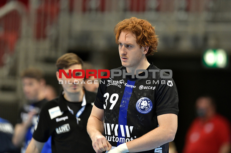 21.11.2020, Duesseldorf, ISS Dome, GER, 1.Liqui Moly HBL,  BHC06 vs. Fuechse Berlin<br /><br />1.Liqui Moly HBL  regulations prohibit any use of photographs as image sequences and/or quasi-video<br />im Bild Lucas Stutzke ( BHC #39 ).<br /><br />Foto © nordphoto / freund *** Local Caption ***