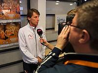 Februari 06, 2015, Apeldoorn, Omnisport, Fed Cup, Netherlands-Slovakia, Draw, Cityhall, interview with Paul Haarhuis<br /> Photo: Tennisimages/Henk Koster