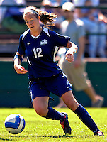 2 September 2007: University of New Hampshire Wildcats' Sara Hourihan, a Junior from Lynnfield, MA, in action against the University of Central Arkansas Sugar Bears at Historic Centennial Field in Burlington, Vermont. The Wilcats shut out the Sugar Bears 3-0 during the TD Banknorth Soccer Classic...Mandatory Photo Credit: Ed Wolfstein Photo