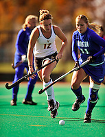 24 October 2008: University of Vermont Catamounts' forward Maegan Luce, a Senior from Hartford, VT, in action against the Hofstra University Pride at Moulton Winder Field, in Burlington, Vermont. The Catamounts shut out the visiting Pride 3-0...Mandatory Photo Credit: Ed Wolfstein Photo