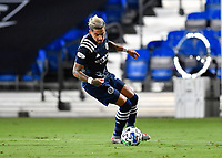 LAKE BUENA VISTA, FL - AUGUST 01: Ronald Matarrita #22 of New York City FC controls the ball during a game between Portland Timbers and New York City FC at ESPN Wide World of Sports on August 01, 2020 in Lake Buena Vista, Florida.