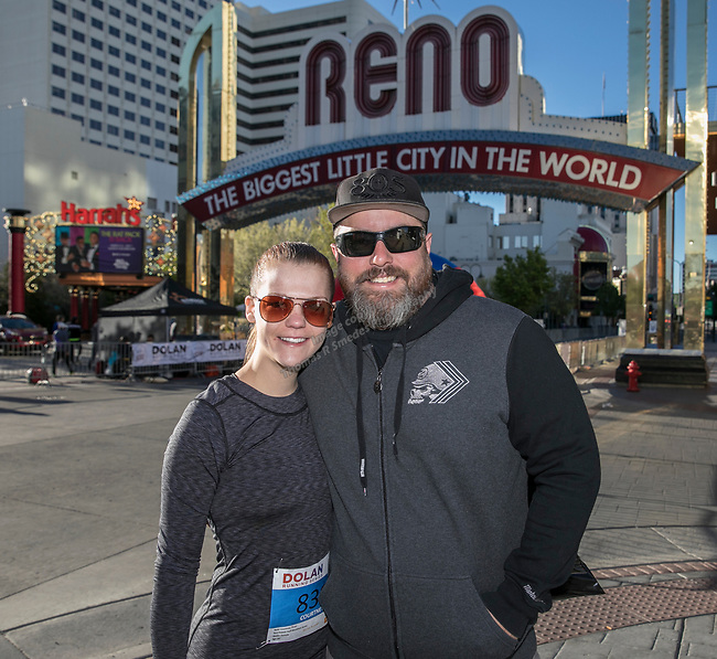 Courtney Thran and Mike Blea during the Downtown River Run on Sunday, April 30, 2017 in Reno, Nevada.