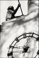 Delacourt clock detail