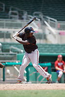 GCL Orioles designated hitter Jacob Brown (15) at bat during a game against the GCL Red Sox on August 9, 2018 at JetBlue Park in Fort Myers, Florida.  GCL Red Sox defeated GCL Orioles 10-4.  (Mike Janes/Four Seam Images)