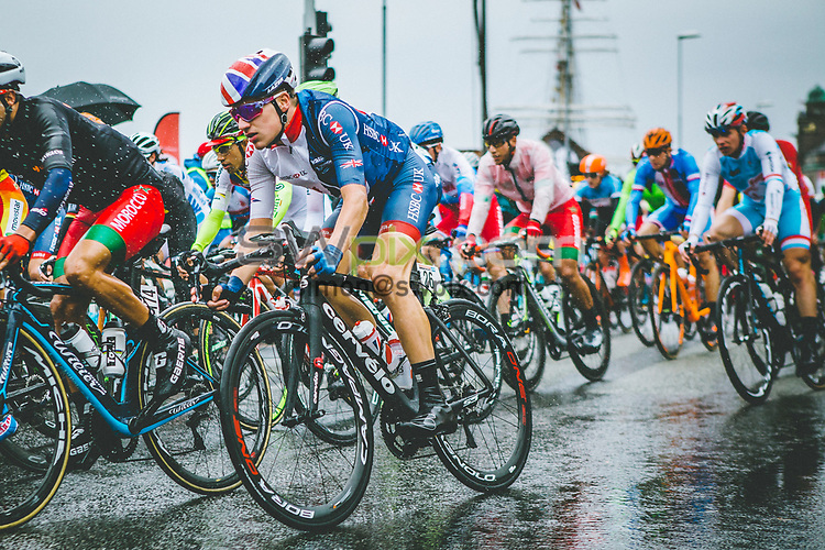 Picture by Christopher Lanaway/SWpix.com - 22/09/2017 - Cycling - 2017 UCI Road World Championships, Day 6 - Bergen, Norway -  Mens U23 Road Race. Ethan HAYTER Great Britain