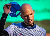 Netherlands, Oktober 24,  2021, Zuidwolde,  KIA Competition Men, premier league,  Suthwalda vs Spijkenisse, first single :  Milaan Niesten (NED)   <br /> Photo: Henk Koster/tennisimages.com