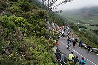 stage leader/eventual stage winner Jakob Fuglsang (DEN/Astana) coming up the Alto de La Cubilla<br /> <br /> Stage 16: Pravia to Alto de La Cubilla. Lena (144km)<br /> La Vuelta 2019<br /> <br /> ©kramon