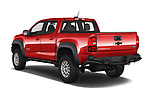 Car pictures of rear three quarter view of a 2019 Chevrolet Colorado ZR2 4 Door Pick Up angular rear