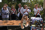 May Day Village Fair, the Kennet Morris men at the Perch and Pike pub South Stoke, Berkshire UK 2006.