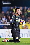 Goalkeeper Sergio Asenjo Andrés of Villarreal CF reacts during their La Liga match between Villarreal and FC Barcelona at the Estadio de la Cerámica on 08 January 2017 in Villarreal, Spain. Photo by Maria Jose Segovia Carmona / Power Sport Images