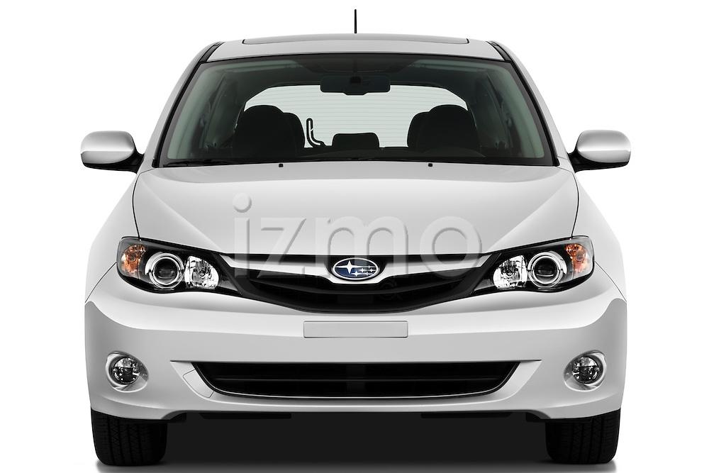 Straight front view of a 2010 Subaru Impreza Wagon 2.5i Premium