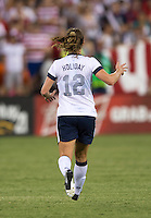 Lauren Holiday. The USWNT defeated Mexico, 7-0, during an international friendly at RFK Stadium in Washington, DC.  The USWNT defeated Mexico, 7-0.