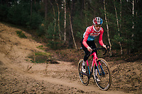 Many of the Belgian (and also foreign) pro cyclocross riders usually have a mid-week (technical) training session (mostly on wednesdays) in the 'Zwarte Water' forrest situated in the Belgian 'Kempen' area.<br /> The forrest has a dedicated cyclocross parcours and is, without a doubt, THE cyclocross training hotspot in the world.<br /> <br /> Luxemburg CX Champion Christine Majerus (LUX/Boels-Dolmans) is here to further craft her skills<br /> <br /> Kasterlee, december 2018