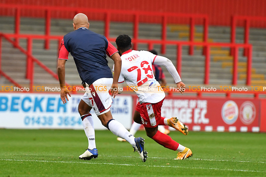 Nathan Delfouneso of Bolton Wanderers F.C. with no shirt number during Stevenage vs Bolton Wanderers, Sky Bet EFL League 2 Football at the Lamex Stadium on 21st November 2020