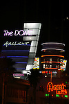 Neon signs at Arclight Cinemas and Amoeba Records in Hollywood, CA