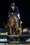 Ping-Yang Hsieh of Chinese Taipei riding Just Energie competes in the Masters One DBS during the Longines Masters of Hong Kong at AsiaWorld-Expo on 11 February 2018, in Hong Kong, Hong Kong. Photo by Ian Walton / Power Sport Images