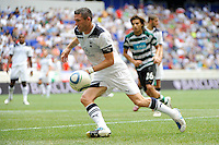 Robert Keane (10) of Tottenham Hotspur F. C. during a Barclays New York Challenge match against Sporting Clube de Portugal at Red Bull Arena in Harrison, NJ, on July 25, 2010.