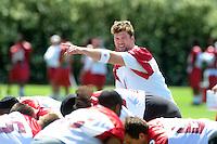 May 19, 2009; Tempe, AZ, USA; Arizona Cardinals quarterback (2) Brian St. Pierre during organized team activities at the Cardinals practice facility. Mandatory Credit: Mark J. Rebilas-