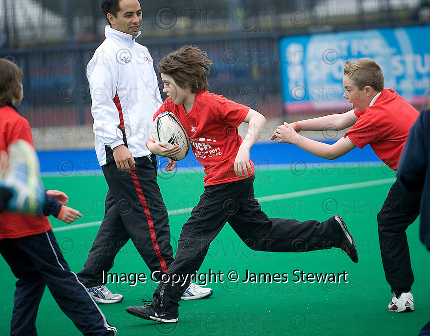 PUPILS FROM DEAN PARK PRIMARY TAKE PART IN THE TOUCH WORLD CUP YOUTH FESTIVAL AT PEFFERMILL.