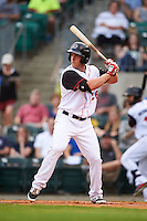 Arkansas Travelers outfielder Cal Towey (26) at bat during a game against the Corpus Christi Hooks on May 29, 2015 at Dickey-Stephens Park in Little Rock, Arkansas.  Corpus Christi defeated Arkansas 4-0 in a rain shortened game.  (Mike Janes/Four Seam Images)