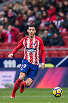 Lucas Hernandez of Atletico de Madrid in action during the La Liga 2017-18 match between Atletico de Madrid and Getafe CF at Wanda Metropolitano on January 06 2018 in Madrid, Spain. Photo by Diego Gonzalez / Power Sport Images