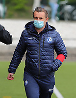 Head Coach Dave Mattheus  of AA Gent pictured before a female soccer game between Oud Heverlee Leuven and AA Gent Ladies on the 9 th matchday of play off 1 in the 2020 - 2021 season of Belgian Womens Super League , saturday 22 nd of May 2021  in Heverlee , Belgium . PHOTO SPORTPIX.BE | SPP | SEVIL OKTEM