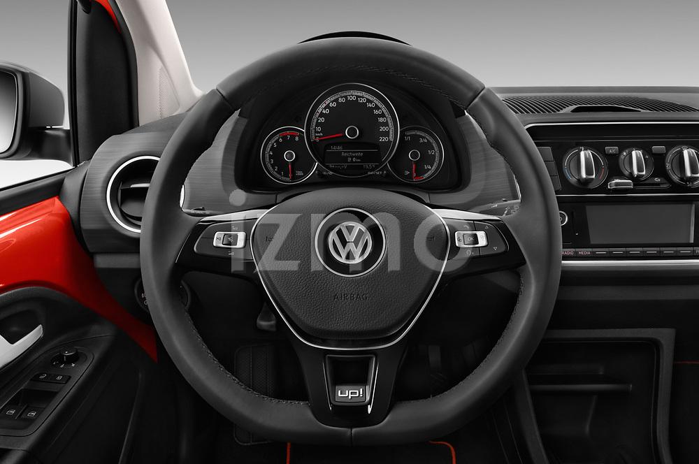 Car pictures of steering wheel view of a 2018 Volkswagen Up Cross Up 5 Door Hatchback