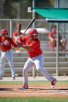 GCL Cardinals designated hitter Ivan Herrera (32) at bat during a game against the GCL Nationals on August 5, 2018 at Roger Dean Chevrolet Stadium in Jupiter, Florida.  GCL Cardinals defeated GCL Nationals 17-7.  (Mike Janes/Four Seam Images)