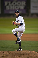 Helena Brewers relief pitcher Tyler Tungate (22) delivers a pitch during a Pioneer League game against the Orem Owlz at Kindrick Legion Field on August 21, 2018 in Helena, Montana. The Orem Owlz defeated the Helena Brewers by a score of 6-0. (Zachary Lucy/Four Seam Images)