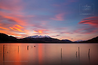 A beautiful sunset scene in west Wanaka taken by Wanaka-based fine art landscape photographer Christopher David Thompson in Parkins Bay – one of his best and favourite photography spots!