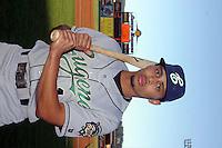 Eugene Emeralds outfielder Rico Noel #1 before a game vs. the Spokane Indians at Avista Stadium in Spokane, Washington, on August 20, 2010. Photo By Robert Gurganus/Four Seam Images