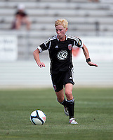 Joanna Lohman.  The D.C. United Women defeated the Charlotte Lady Eagles, 3-0, to win the W-League Eastern Conference Championship.