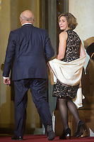 French Labour, Employment and Social Dialogue Minister Michel Sapin and his wife arrive to attend a dinner in honour of Senegal's President Macky Sall at the Elysee Palace in Paris, France December 20, 2016. # FRANCOIS HOLLANDE RECOIT MACKY SALL POUR LE DINER A L'ELYSEE
