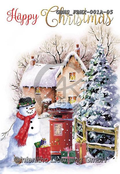 John, CHRISTMAS LANDSCAPES, WEIHNACHTEN WINTERLANDSCHAFTEN, NAVIDAD PAISAJES DE INVIERNO, paintings+++++,GBHSFBHX-001A-05,#xl# ,snowman,