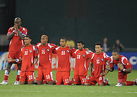 Panama players waiting the result of the last penalty kick.   Panama defeated El Salvador in penalty kicks 5-3 in the quaterfinals for the 2011 CONCACAF Gold Cup , at RFK Stadium, Sunday June 19, 2011.