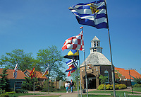 Entrance to replica of a Dutch town in Michigan. Holland Michigan USA.