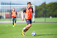 Angel Rangel in action during the Swansea City training session at The Fairwood training Ground, Swansea, Wales, UK. Wednesday 13 September 2017