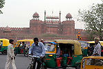 The Red Fort in Old Delhi, India.