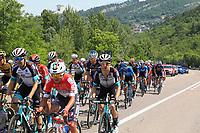 27th May 2021; Rovereto, Trentino, Italy; Giro D Italia Cycling, Stage 18 Rovereto to Stradella;  The main rider group on a climb