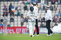 The umpires original decision is upheld following Kohli's review and he has to go during India vs New Zealand, ICC World Test Championship Final Cricket at The Hampshire Bowl on 20th June 2021