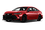 Stock pictures of low aggressive front three quarter view of 2020 Toyota Avalon TRD 4 Door Sedan Low Aggressive