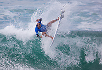 Huntington Beach, CA - Saturday August 05, 2017: Jadson Andre during a World Surf League (WSL) Qualifying Series (QS) fifth round heat in the 2017 Vans US Open of Surfing on the South side of the Huntington Beach pier.