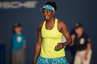 San Jose, CALIFORNIA - Thursday August 2, 2018: Venus Williams defeated Heather Watson in three sets 6-4, 4-6, 6-0 at Silicon Valley Classic in San Jose.