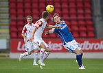 St Johnstone v Ross County...11.08.15...SPFL..McDiarmid Park, Perth.<br /> Liam Craig and Marcus Fraser<br /> Picture by Graeme Hart.<br /> Copyright Perthshire Picture Agency<br /> Tel: 01738 623350  Mobile: 07990 594431