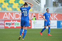 20190304 - LARNACA , CYPRUS : Italian midfielder Barbara Bonansea pictured during a women's soccer game between Italy and Thailand , on Monday 4 March 2019 at the AEK Arena in Larnaca , Cyprus . This is the third game in group B for both teams during the Cyprus Womens Cup 2019 , a prestigious women soccer tournament as a preparation on the FIFA Women's World Cup 2019 in France . PHOTO SPORTPIX.BE | STIJN AUDOOREN